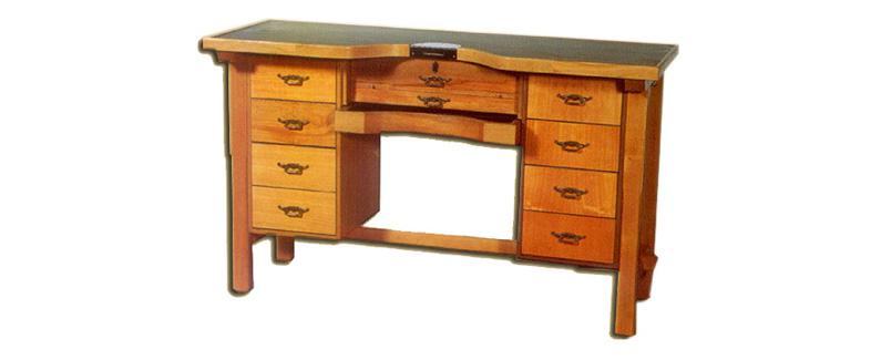 Mesa de trabajo desmontable en madera de haya para joyeros | REF: 2001 | Un puesto de trabajo