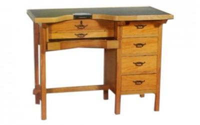 Mesa de trabajo desmontable en madera de haya para joyeros | REF: 94 | 1 puesto de trabajo con 4 cajones laterales