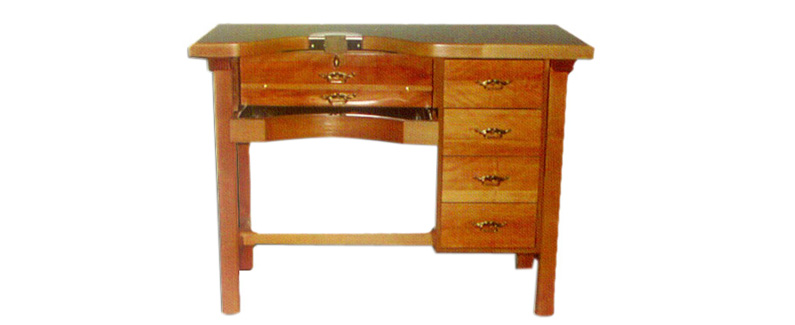Mesa de trabajo desmontable en madera de haya para joyeros | REF: 94 B | 1 puesto de trabajo con 4 cajones laterales