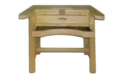 Mesa de trabajo desmontable en madera de haya para joyeros | REF: 95 | Un puesto de trabajo