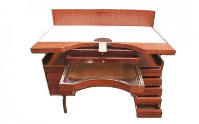 Mesa especial de trabajo con armadura metálica para joyeros | REF: 2000 | Un puesto de trabajo