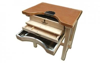 Mesa de trabajo desmontable en madera de haya para joyeros | REF: 91 | Un puesto de trabajo